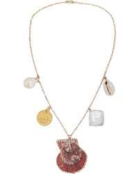 Eliou Argos Gold D Shell And Pearl Necklace