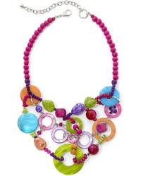 jcpenney Aris By Treska Multicolor Shell Bib Statet Necklace