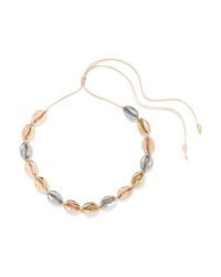Tohum Large Puka Yellow And Gold And Silver Plated Necklace