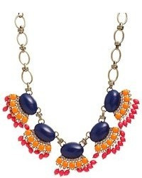 Liquorish Multi Bead Statet Necklace Gold