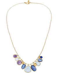 Pippa Small Pacific Blues 18 Karat Gold Cord And Multi Stone Necklace