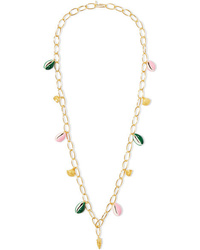 Aurelie Bidermann Panama Gold Plated Shell And Enamel Necklace