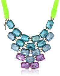 Steve Madden Multi Colored Crystal Necklace 36