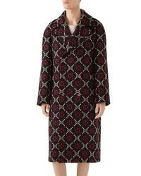 Gucci Gg Wool Jacquard Knit Coat