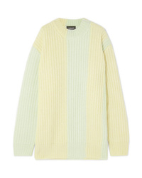 Calvin Klein 205W39nyc Striped Ribbed Sweater
