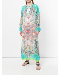 Etro Mixed Print Long Beach Dress