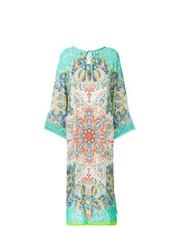 Etro Mixed Print Long Beach Dress