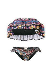 Multi colored Paisley Bikini Top