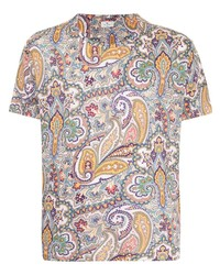 Etro Paisley Print Linen T Shirt