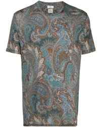 Etro Paisley Print Short Sleeved T Shirt