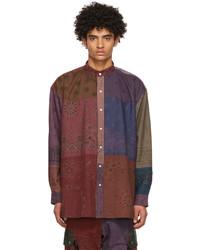 Children Of The Discordance Multicolor Rogic Edition Bandana Patchwork Shirt