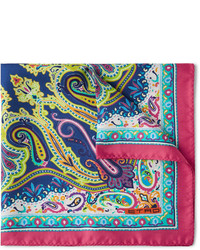 Paisley print silk pocket square medium 245045
