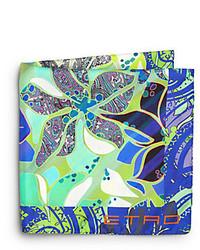 Silk paisley print pocket square medium 245053