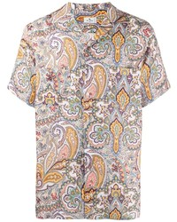 Etro Paisley Print Linen Shirt