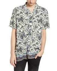 Topman Slim Fit Short Sleeve Button Up Camp Shirt