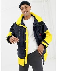 Tommy Hilfiger Limited Sailing Colourblock Parka Jacket In Navyyellow