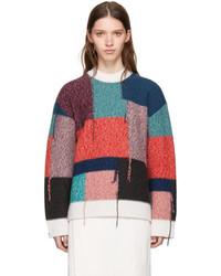 Stella McCartney Multicolor Patchwork Crewneck Sweater
