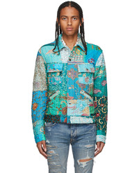 Amiri Multicolor Vintage Quilt Patchwork Trucker Jacket