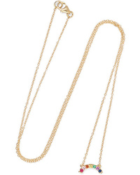 Andrea Fohrman 14 Karat Gold Multi Stone Necklace