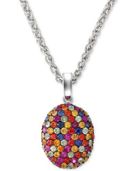 EFFY Balissima By Multi Color Sapphire Pendant Necklace In Sterling Silver