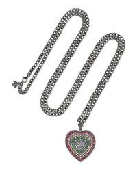 Carolina Bucci Florentine 18 Karat Blackened Gold Multi Stone Necklace