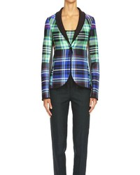 Multi colored Plaid Blazer