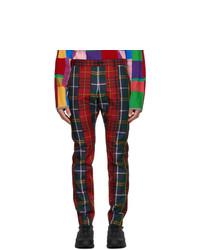 Comme Des Garcons Homme Plus Red Tartan Trousers