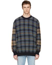 Multicolor tartan crewneck sweater medium 5081022