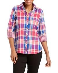 Mary madras plaid shirt medium 8752340