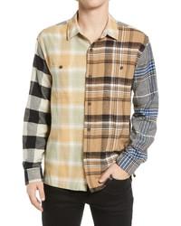 PacSun Basset Colorblock Flannel Shirt