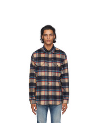 DSQUARED2 Beige Wool Check Shirt