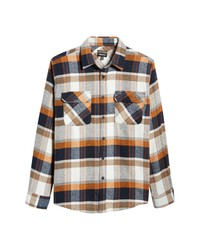 Brixton Bowery Flannel Button Up Shirt