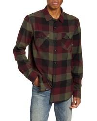 Vans Box Buffalo Check Button Up Flannel Shirt