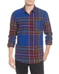 Brushed flannel plaid shirt medium 6873817