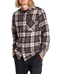 Volcom Caden Modern Fit Plaid Flannel Button Up Shirt