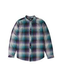 Billabong Coastline Check Flannel Button Up Shirt