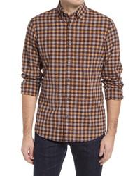 Nordstrom Men's Shop Fit Plaid Stretch Flannel Shirt