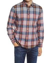johnnie-O Hangin Out Kemper Plaid Flannel Button Up Shirt
