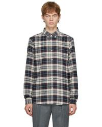 Brunello Cucinelli Multicolor Flannel Madras Shirt