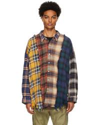 R13 Multicolor Plaid Shirt