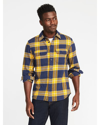 Old Navy Plaid Flannel Shirt Jacket For