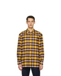 Acne Studios Yellow Plaid Over Shirt