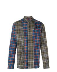 Lanvin Contrast Panel Plaid Shirt