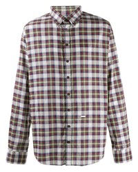 DSQUARED2 Dropped Military Checked Shirt