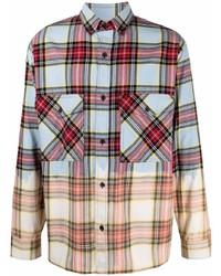 Marcelo Burlon County of Milan Dyed Effect Check Shirt