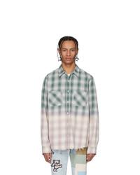 Amiri Green And Purple Lurex Plaid Shirt
