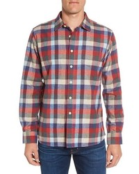 Hadley heritage regular fit plaid flannel sport shirt medium 1157295