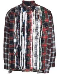 Needles Mixed Plaid Shirt