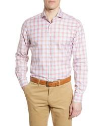 Emanuel Berg Modern Fit Plaid Button Up Shirt
