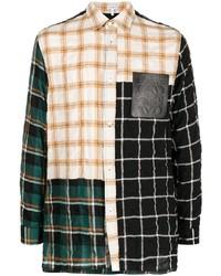 Loewe Panelled Check Shirt